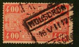 Spoorwegen Railway Eisenbahn 4.00 Fr Mi 154 1924 1923 Used/gebruikt/oblitere BELGIE / BELGIEN / BELGIUM / Belgique - Bahnwesen