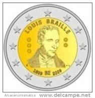 "BELGICA  2€  2009  SC/UNC  ""LOUIS BRAILLE""  BIMETALICA   DL-7262 - Bélgica"
