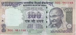 BILLETE DE LA INDIA DE 100 RUPIAS DEL AÑO 2013  GHANDI  (BANKNOTE) - India