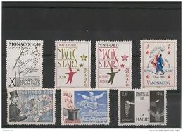 MONACO  Années 1989/99 Arts Du Cirque: Magie  N°Y/T: 1678-1933-2027-2125-2174-2219-2264-** - Collections, Lots & Series