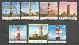 Phares Des Côtes De La Mer Baltique, 7 Timbres Oblitérés Allemagne , Bonne Qualité - Lighthouses