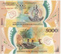 """VANUATU   New 5'000 Vatu  """"Just Issued""""   Polimer     2017    UNC - Vanuatu"""