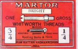 INDIA - VINTAGE PRINTED TEXTILE MACHINERY LABEL - Textile