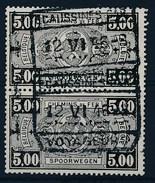 "BELGIE - TR 250 (paar/paire) - Cachet  ""ECAUSSINES-CAR. - VOYAGEURS"" - (ref. 17.018) - 1923-1941"