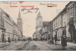 """CPA Slovaquie Üdvözlet Nagyszombatrol Carte Postale Circulé 1906  """" Recto/Verso """" - Slovaquie"""