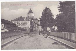 CPA 16 - MONTMOREAU - RUE DU PONT (animée) - CHARENTE - Autres Communes