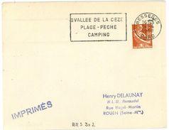 BESSEGES  GARD  1958  Secap : VALLEE DE LA CEZE... - Mechanische Stempels (reclame)