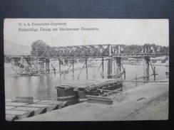 AK KORNEUBURG STOCKERAU Stockereauer Donauarm Eisenbahnregiment Ca.1915 // D*28727 - Korneuburg