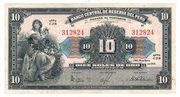 Peru 10 Soles 1944, XF!!! - Peru