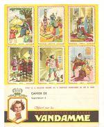 Protège Cahier VANDAMME Extrait De La Collection VANDAMME Des 18 Magnifiques Buvards Images Des Rois De France - Gingerbread