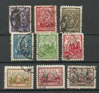 LITAUEN Lithuania 1923 Michel 187 - 195 O - Lithuania