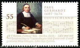 BRD - Michel 2592 - ** Postfrisch (A) - 55C  Paul Gerhardt - Unused Stamps