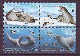 ATT - 2001, WWF, Seals 4v - MNH - Territorio Antártico Australiano (AAT)