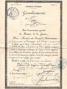 GENDARMERIE -2è LEGION COMPAGNIE DE L'AISNE 1881  LAON  -RF- ATTESTATION DE MORALITE - Documenten