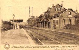 Lobbes - La Gare (animée, Train, Desaix, 1934) - Lobbes