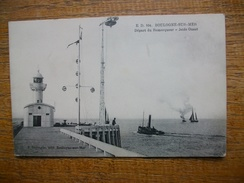 """Boulogne-sur-mer , Départ Du Romorqueur ,jetée Ouest """""""" Carte Animée Bateaux """""""" - Boulogne Sur Mer"""