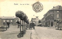 Aubel - Vue Sur La Gare (attelage, Hôtel, 1911) - Aubel