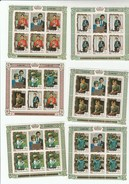 1982 PENRHYN Royal Birth 6 X Different Miniature Sheet (30 Stamp) MNH Royalty Prince William Princess Diana Cook Islands - Royalties, Royals