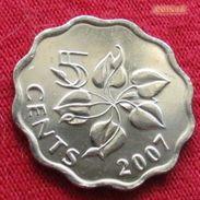 Swaziland 5 Cents 2007 Suazilandia Swazilandia - Swaziland