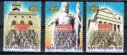 2006  SAN MARINO SET 100° ANNIVERSARIO ARENGO DEI CAPI DI FAMIGLIA MNH ** MINT - Nuovi