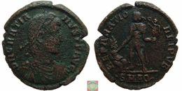 Roman Empire - AE2 - Centenionalis Of Gratian (367 - 383 AD), REPARATIO REIPVB, Aquileia - 8. La Fin De L'Empire (363-476)