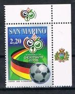 2006  SAN MARINO SET CAMPIONATI MONDIALI DI CALCIO FIFA 2006  MNH ** MINT - Nuovi