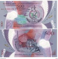 """VANUATU   New 500 Vatu  """"Just Issued""""   Polimer     2017    UNC - Vanuatu"""