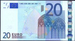 Euronotes 20 Euro 2002 UNC < S >< J023 > Italy Trichet - EURO