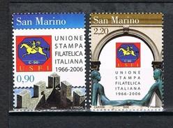 2006  SAN MARINO SET  40° ANNIVERSARIO DELL'UNIONE STAMPA FILATELICA ITALIANA  MNH ** MINT - Nuovi