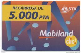 MOBILAND .Recarrega De 5000 PTA . 31/03/2003 . - Andorre