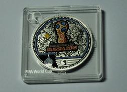 1 Dollar Fifa Russia 2018 1 Oz SILVER PROOF !Certificade - Monnaies