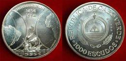 Cape Verde 1994 Discover 1000 Escudos Silver Coin,UNC-Rare - Cap Vert