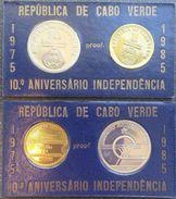 CAPE VERDE - 1985 1 + 10 Escudos PROOF SET - Cape Verde