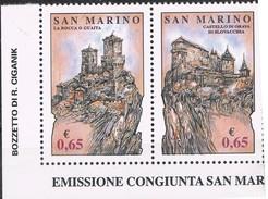 2007  SAN MARINO SET ROCCHE DI LIBERTA' EMISSIONE CONGIUNTA CON LA SLOVACCHIA MNH ** MINT - Nuovi