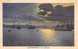 Constantinople - Turkey  Port Sali-Bazar Night Scene - Turkey