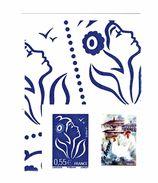 Lamouche 0.55 € Bleu Personnalisé Adhésif Petite Vignette YT 3802Da . Rare, Voir Scan. Cote YT : 45 € Maury N° 57 : 35 € - Sellos Personalizados