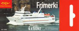 Iceland 2003 Booklet Of 4 Scott #991c 60k Herjolfur, Baldur - Ferries - Carnets