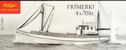 Iceland 2005 Booklet Of 4 Scott #1045c Vorthur ThH4, Karl VE47 - Fishing Boats - Carnets