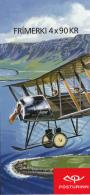 Iceland 2009 Booklet Of 4 Scott #1163c Avro 504K, Waco ZKS-7 Civil Aviation - 1944-... Republique