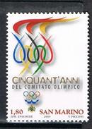 2009  SAN MARINO SET 50° ANNIVERSARIO DELLA COSTITUZIONE DEL COMITATO OLIMPICO NAZIONALE SAMMARINESEMNH ** MINT - Nuovi