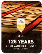 Omer Vander Ghinste. Kortrijk - Courtrai. 125 Years. Since 17.05.1892. - Beer Mats