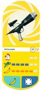 IM217 : Auchan Moche Méchant Carte N°17 Pistolaser - Cartes De Casino