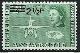British Antarctic  - 1971 Beaver Aircraft (new Currency Surcharge) MNH **   Sc 29 - British Antarctic Territory  (BAT)