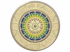 2017 Australian ANZAC Coloured $2 Coin UNC - Australie