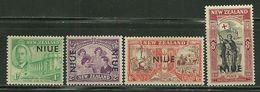 Niu       Overprinted      Set     SC# 90-93    Mint - Niue