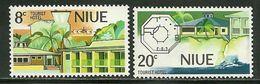"Niu    ""Tourism Hotel""    Set    SC# 177-78   MNH** - Niue"