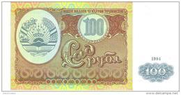 Tajikistan - Pick 6 - 100 Rubles 1994 - Unc - Tajikistan