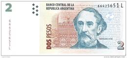 Argentina - Pick 352f - 2 Pesos 2002 - Unc - Argentine