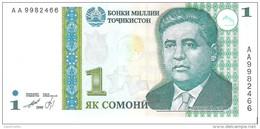Tajikistan - Pick 14 - 1 Somoni 1999 - Unc - Tagikistan