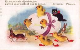 CPA   ILLUSTRATEUR CHAT CHATS  ARTIST SIGNED CARD CAT CATS - Chats